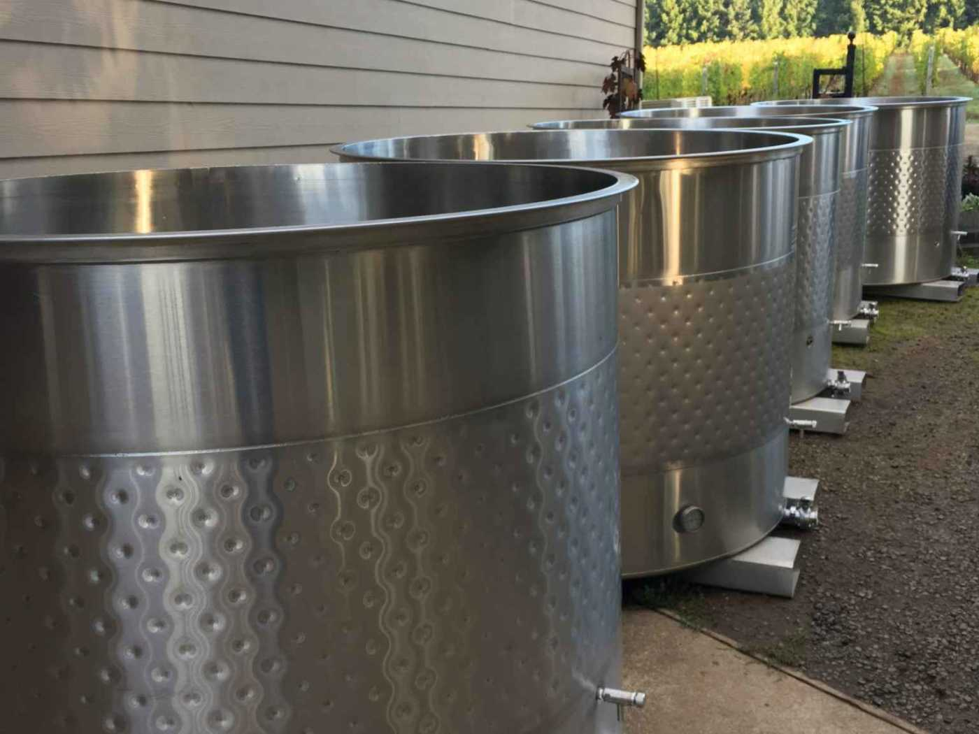 Steel fermentation tanks ready to go for Harvest