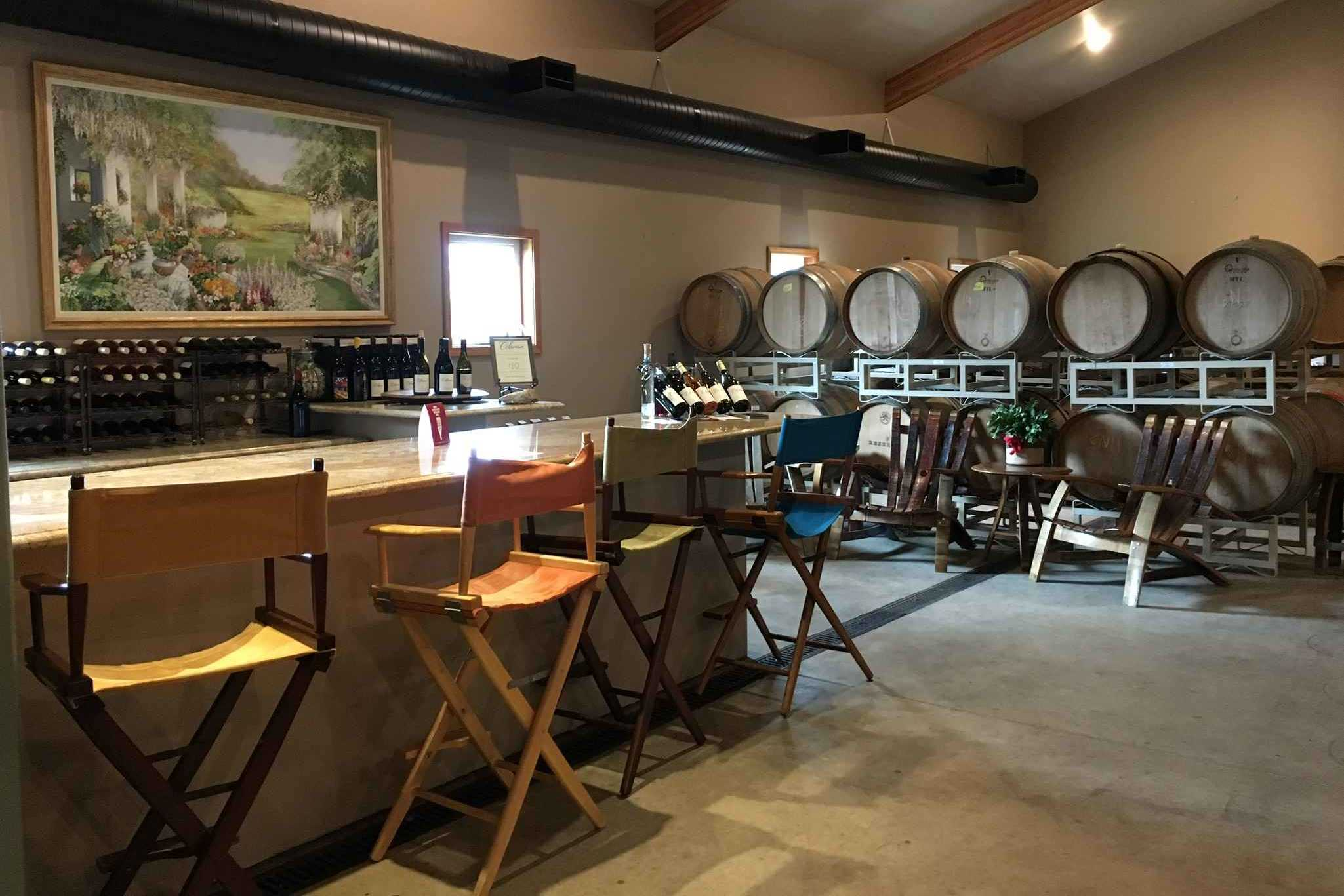 The barrel tasting room bar