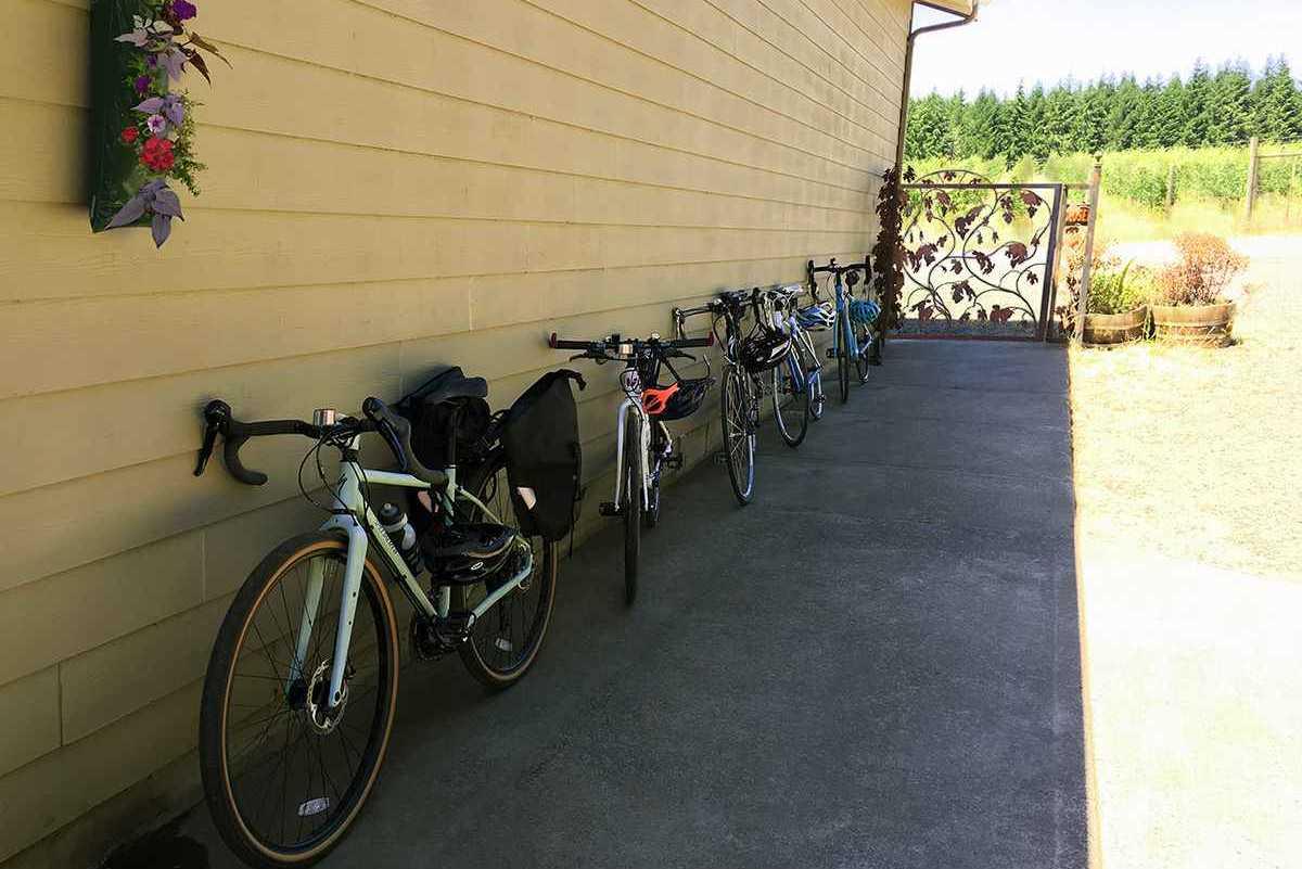 Bike tour vising Coleman Vineyards
